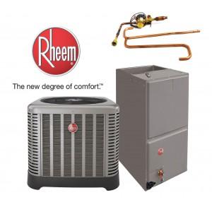 Rheem 5 Ton Split System 14.5 SEER - 10KW Heater Included