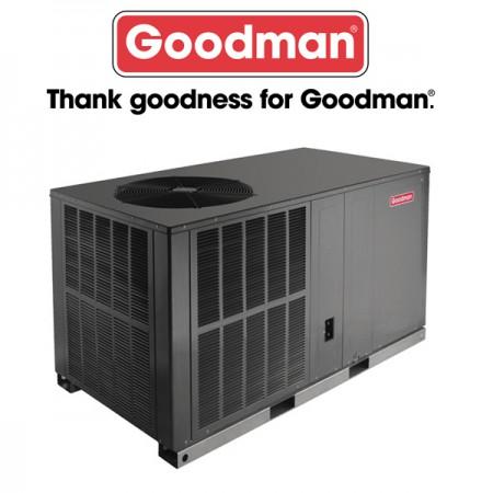 Goodman 3.5 TON - 16 SEER - Horizontal Heat Pump Package Unit - Air & Heat